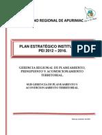 Plan Estrategico Institucional 2012 - 2016 Apurimac