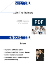 Train the Trainers AIESEC Suceava