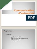 Communication d'entreprise J1
