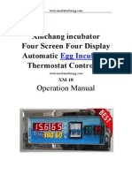 Four Screen Four Display egg incubator thermostat controller XM-18D