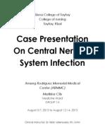 Case Presentation On Central Nervous System Infection