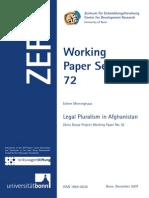 Legal Pluralism in Afghanistan