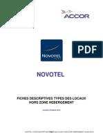 Novotel Fiches Descriptives Types Des Locaux Hors Zone Hebergement (Octobre 2012)