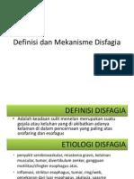 Definisi Dan Mekanisme Disfagia