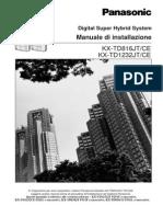 Manuale Installazione Centralino Telefonico Italiano PANASONIC KXYD81