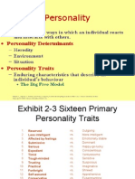 Exhibit 2-3 Sixteen Primary Personality Traits