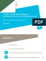 Opi20140114 Les Elections Municipales a Henin Beaumont Janvier 2014 Csa Pour Bfmtv Le Figaro Orange