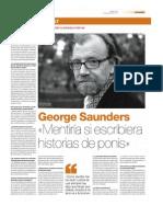 Entrevista a George Saunders
