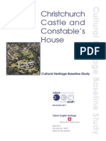 Conservation Management Plan for Christchurch Castle, Dorset, UK