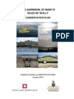 Conservation Management Plan for the Garrison, Isles of Scilly, UK
