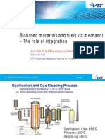 Biobased materials and fuels via methanol