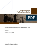 Governance and Development Outcomes in Asia