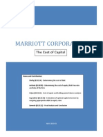 mariott wacc cost of capital divisional