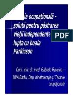 Terapia Ocupationala in Boala Parkinson