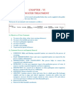 Water Treatment (Water Supply Engineering)