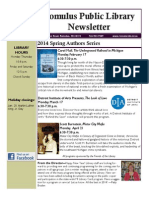Romulus Public Library Newsletter Winter 2014
