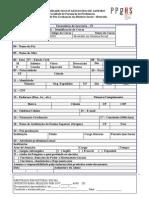 Ficha de InscriçÃo No Processo Seletivo (1)