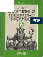 176003944 Jon Elster Tuercas y Tornillos Una Introduccion a Los Conceptos Basicos de Las Ciencias Sociales