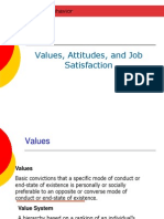 3 -Value, Attitudes, Job Satisfaction organisational behaviour