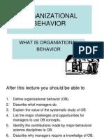 1 -Introduction to Ob organisational behaviour