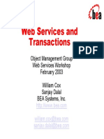 Web Services and Transactions