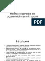 Modificarile Generale in Sarcina