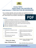 Curso-Taller Valuacion (Flyer)