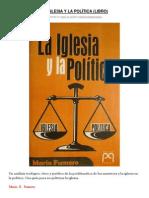 LA IGLESIA Y LA POLÌTICA por Mario Fumero