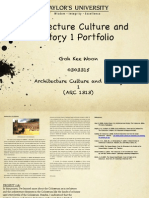 Architectural Culture and History 1 (ARC 1313)