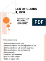 Sales of Goods Act, 1930  Business Law