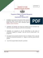 Programme for m.c.m. Nov-2013