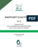 Rapport Activités 2013