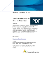 Lean Manufacturing Production Flow and Activities AX2012