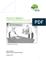 A guide to writing policy briefs for research uptake