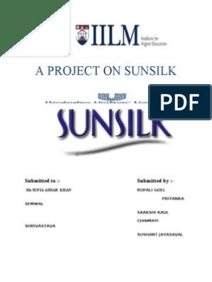 Project on Sunsilk   Advertising   Brand