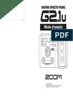 G21u Mode d'Emploi