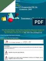 Presentación N°7 PSU De  Geometría - Teoremas Y Propiedades