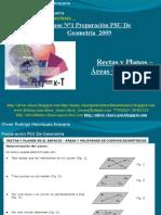 Presentación N°9 PSU De  Geometría - Rectas y Planos - Áreas y Volumenes