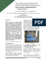FEA of Ellipsoidal Head Pressure Vessel_by_Vikram