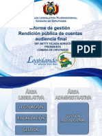 Rendición Pública de Cuentas Final - 2013 - 2014