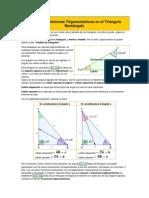 Razones o relaciones Trigonométricas en el Triángulo Rectángulo