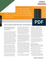 Hitachi Unified Storage Datasheet