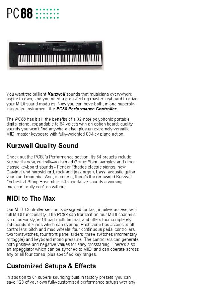 pc88 | Sintetizador | Piano