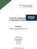 Cours de Topographie Et Topometrie Generale