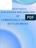 discussion and analysis of commercially available bottled water