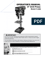 4208 8 Inch Drill Press Manual