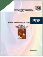 Administración de la Producción-Proyecto TASKAMILK