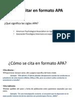 Citas y Bibliografias en Formato APA