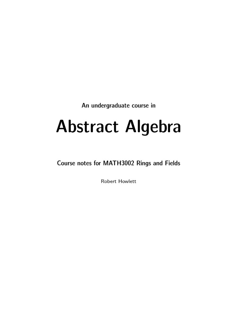 Abstract Algebra Problems and Solutions | Ring (Mathematics) | Function ( Mathematics)