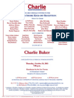 North Shore Kickoff Reception for Charlie Baker